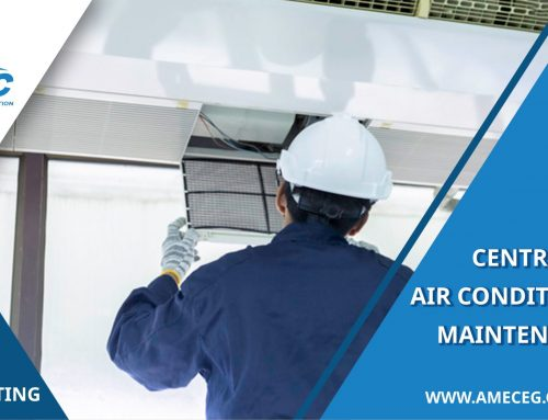 How is central air conditioning maintenance done?