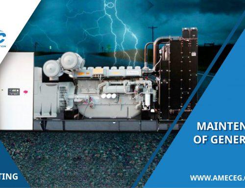 Maintenance of generators